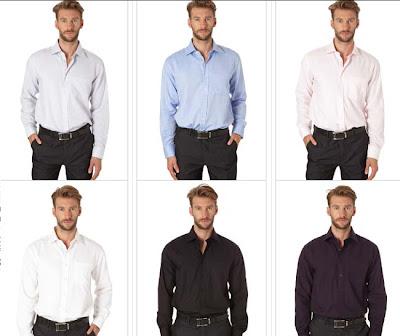 camisas lisas hombre