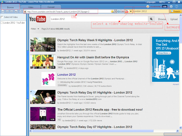 leawo free youtube downloader-browser