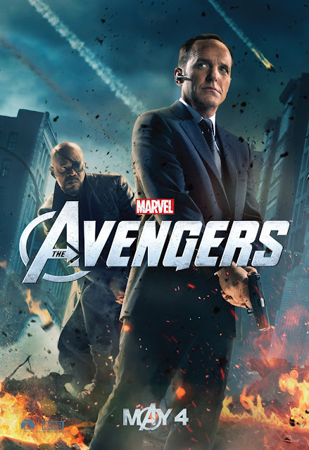 The Avengers Character One Sheet Movie Posters - Samuel L. Jackson as Nick Fury & Clark Gregg as Agent Phil Coulson