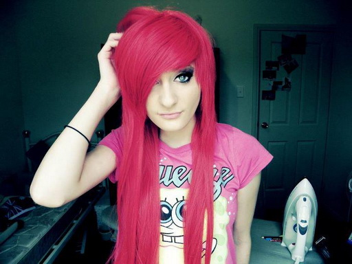 Emo Red Hairstyle