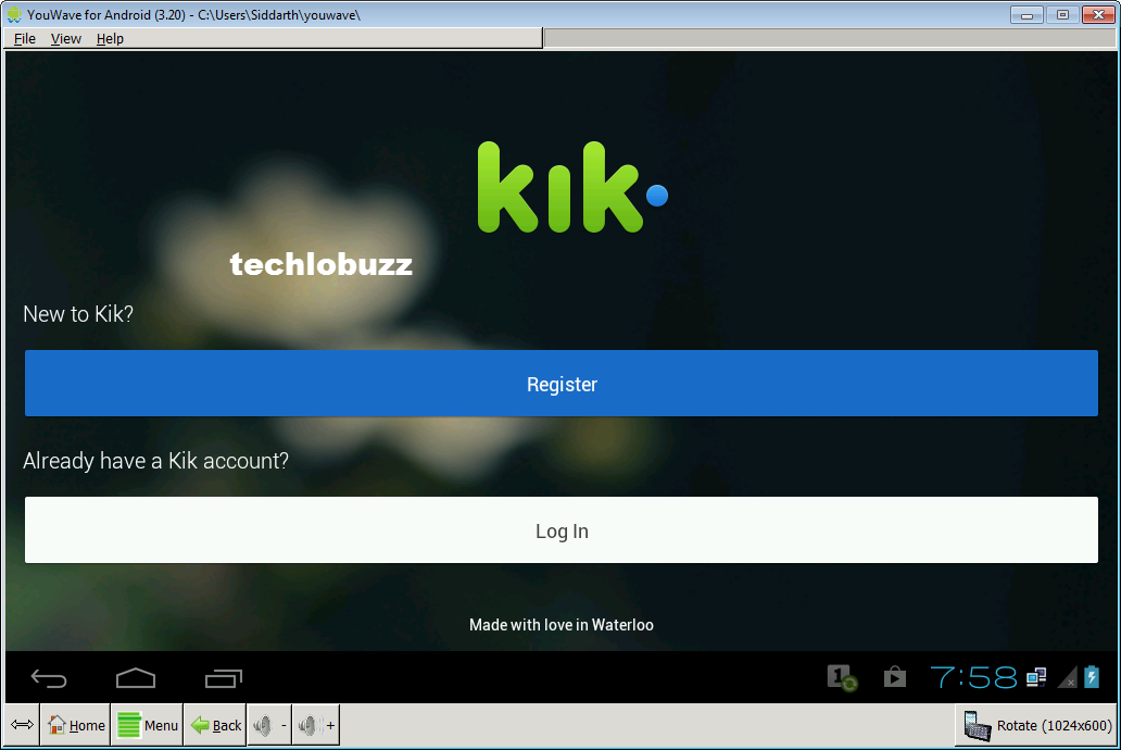 how to download kik messenger on pc