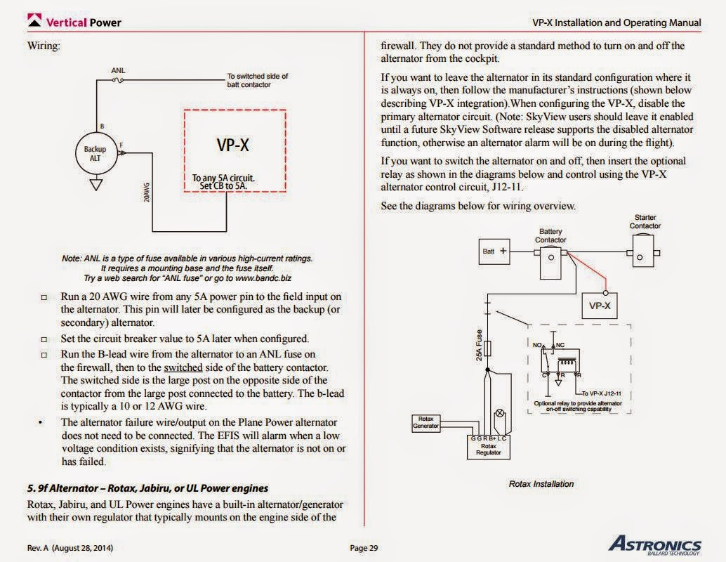 vp alternator wiring diagram vp image wiring diagram craig s sling 4 build log avionics electrical on vp alternator wiring diagram