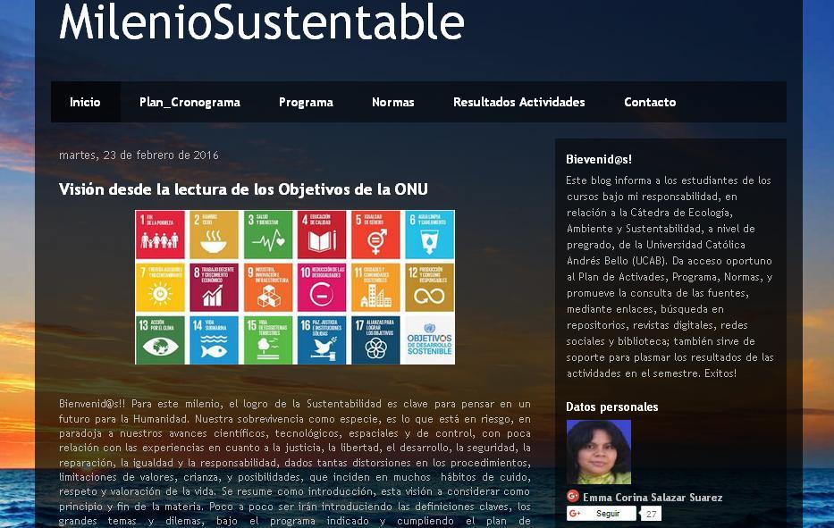 Por un Milenio Sustentable