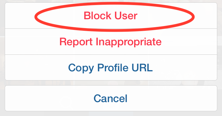 how to block a user on okcupid