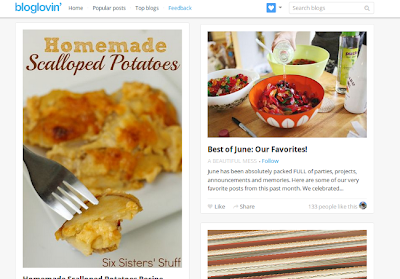 Bloglovin popular posts page