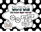 http://www.teacherspayteachers.com/Product/Word-Wall-Cards-EDITABLE-Black-and-White-Polka-Dot-1290759