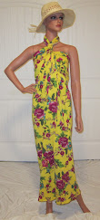 Beach Wrap in Vibrant Yellow with floral Print