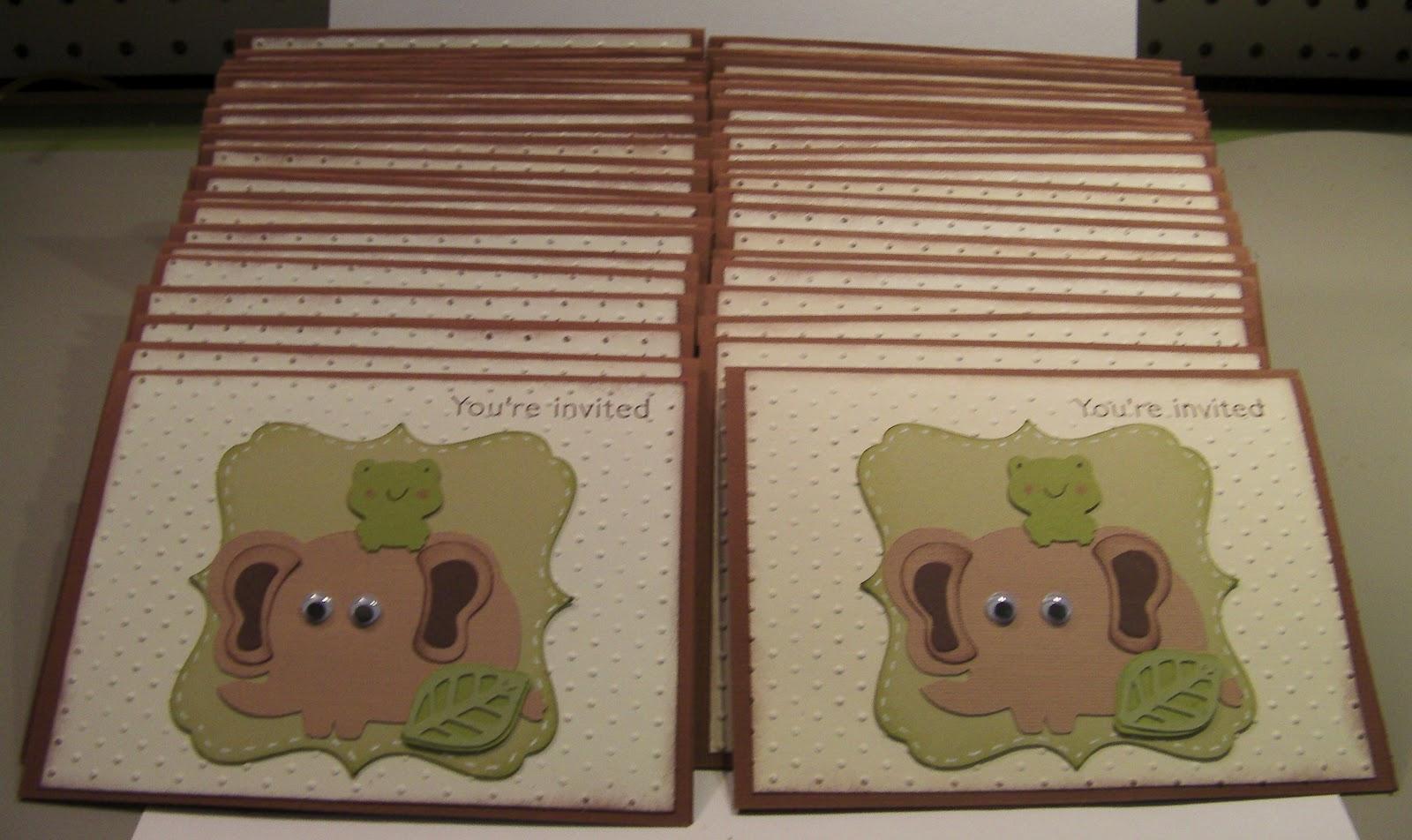 Bumblebee Creations: Chelsie\'s baby shower invites
