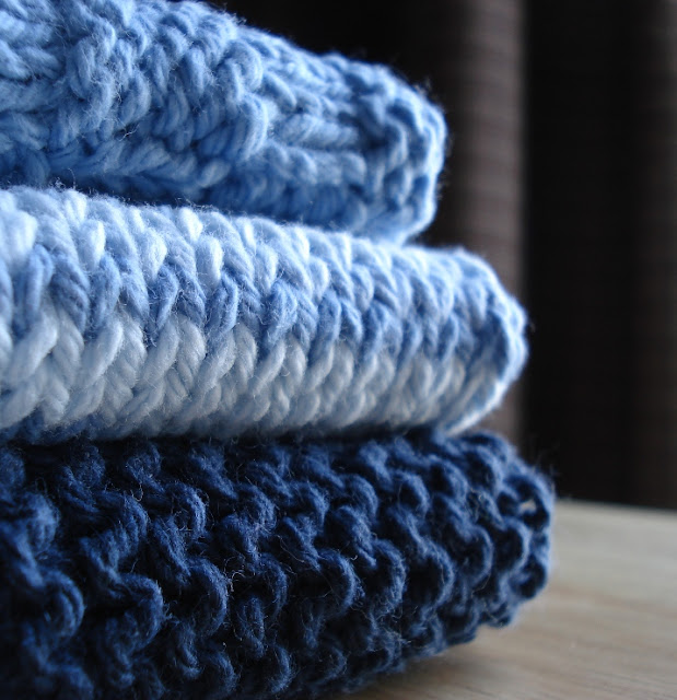 knitted Dirty Girl Washcloths