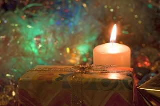 Vela e presente de Natal