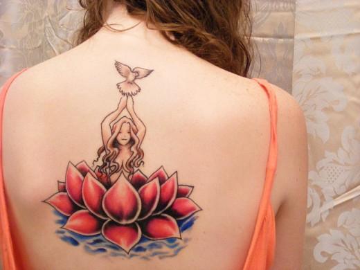 Lotus flower tattoo design 4 destro design for Fish vagina tattoo