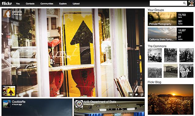 Nueva interfaz de Flickr
