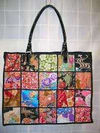 Bolso de telas japonesas