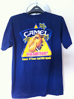 vintage camel n smokin t-shirt - made in usa ..BRAND NEW!!