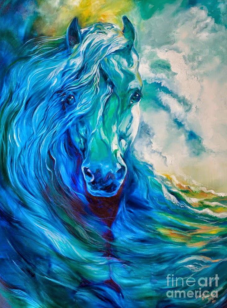 Cuadros pinturas oleos pinturas figurativas modernas con caballos blancos marcia baldwin - Nombres de colores de pinturas ...