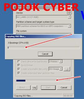 Proses penyalinan file dari IOS ke UFD oleh RUFUS