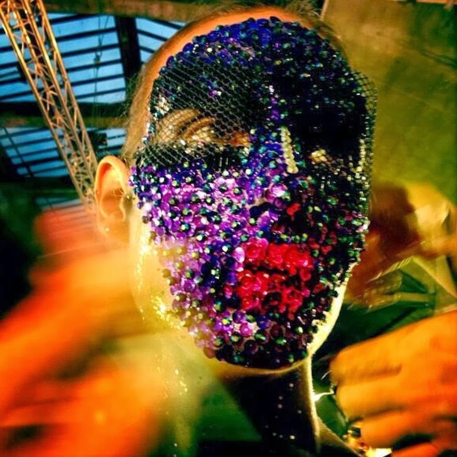 Givenchy ss14 backstage beauty sequin mask Pat McGrath