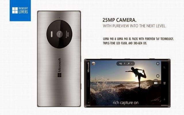 Lumia 940 & 940 XL Gunakan Kamera 25 MP