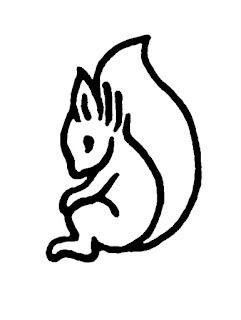 bw line Illustration Squirrel