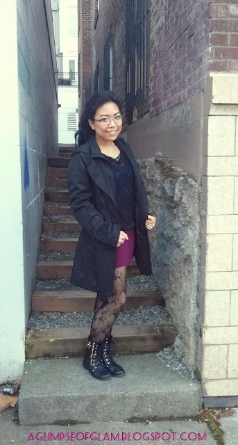 black raincoat outfit