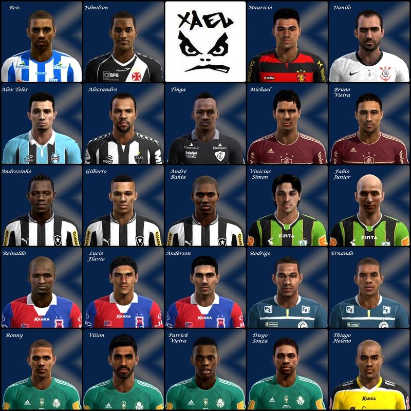 Brasileirão 2013 Mega Facepack - PES 2013