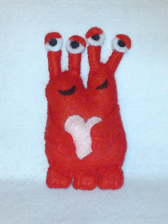 wool felt monster