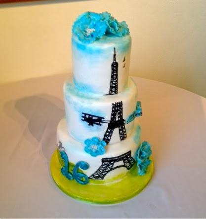 Sweet Ts Cake Design Eiffel Tower 16th Birthday