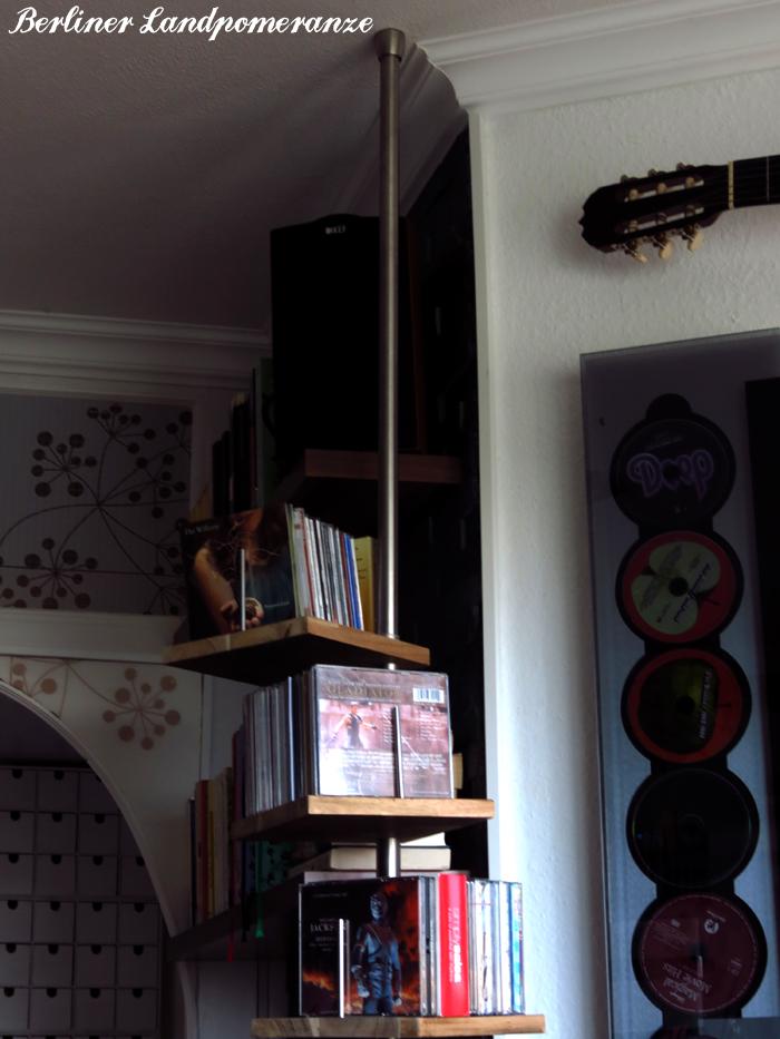 berliner landpomeranze ein berlin gartenblog diy cd regal aus duschstange selber bauen. Black Bedroom Furniture Sets. Home Design Ideas