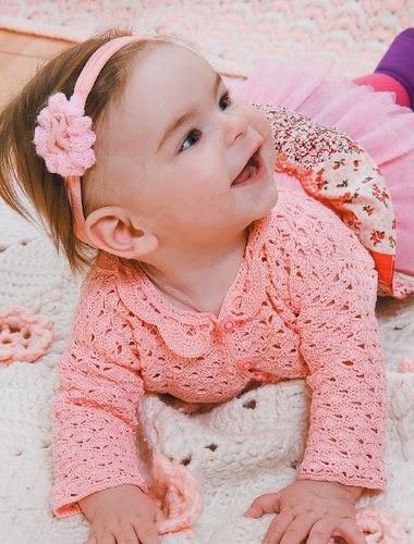 Patrones de Saquito para la princesita tejido al crochet