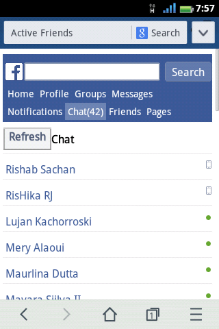 Chat Facebook Page Has Been Updated 4:00 pm In Mobile  Version