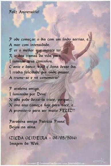 Lembrança da amiga, Zilda Oliveira!