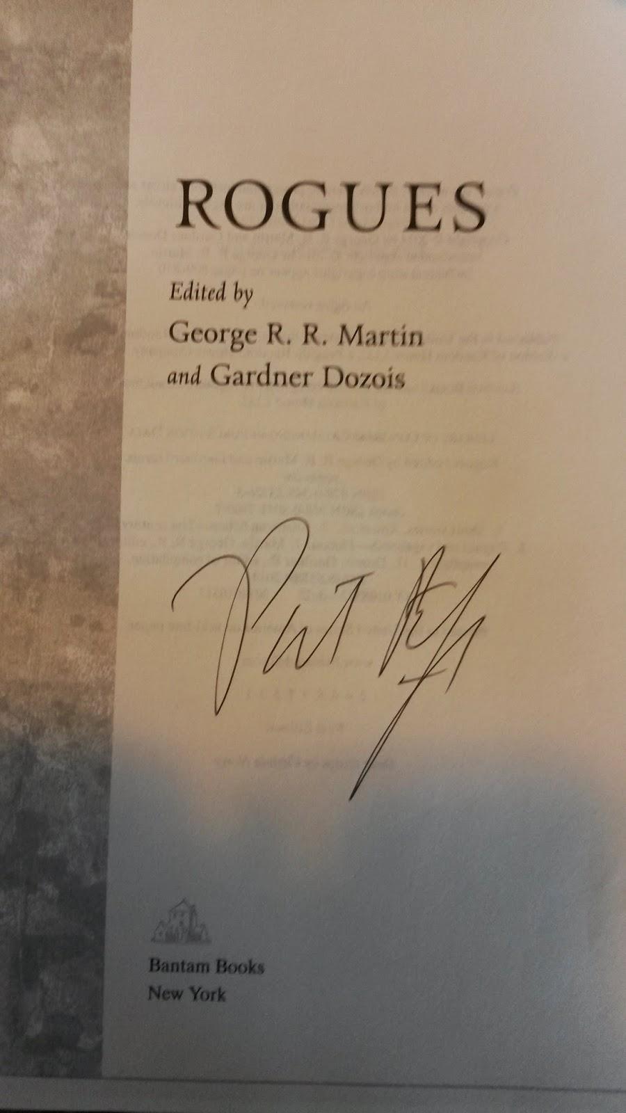 Bokhylla mi Rogues redigert av George R R Martin og Gardner Dozois