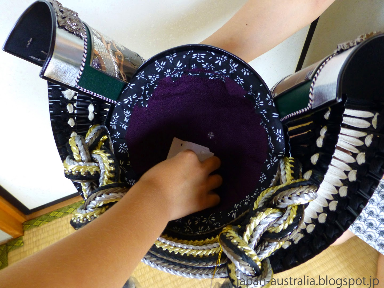 Selecting the lucky winner from the samurai helmet