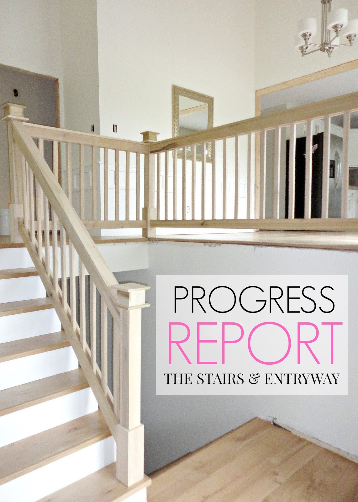 Our 1970s House Makeover: Part 6. The Hardwood Stairs and Entryway Makeover.
