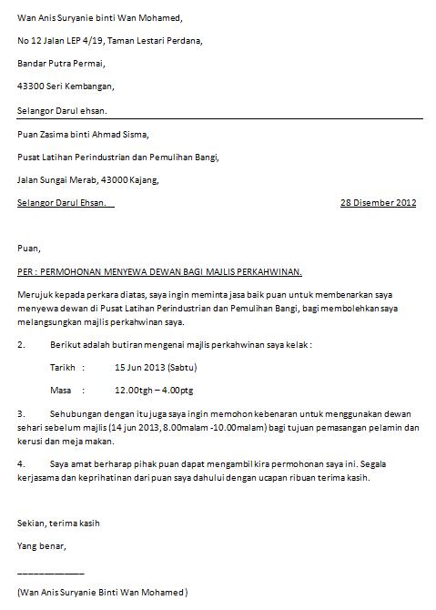 Contoh Surat Permohonan Izin