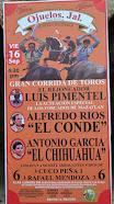 Anuncian a Pimentel, El Conde y El Chihuahua en Ojuelos, el 16/09