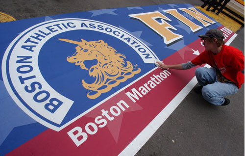 boston marathon finish line pictures. oston marathon finish line