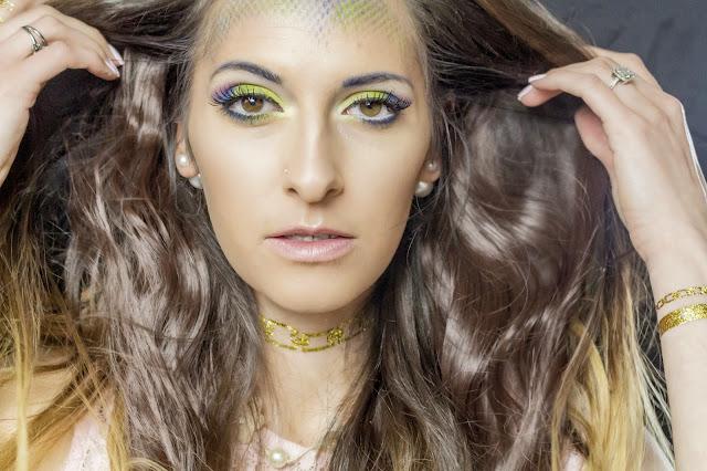 Mermaid make over,colorful makeup,fantasy makeup,