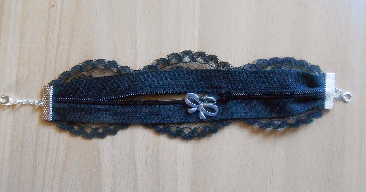 Les loisirs de patouch bracelet fermeture clair et dentelle - Remettre une fermeture eclair ...