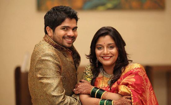 The wedding of Marathi actress Kshitee Jog and actor Hemant Dhome