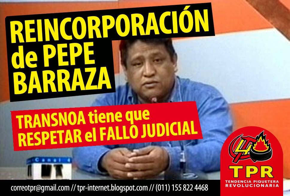 REINCORPORACIÓN de PEPE BARRAZA