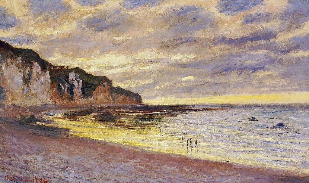 Pointe de l'Ailly, marée basse (1882)