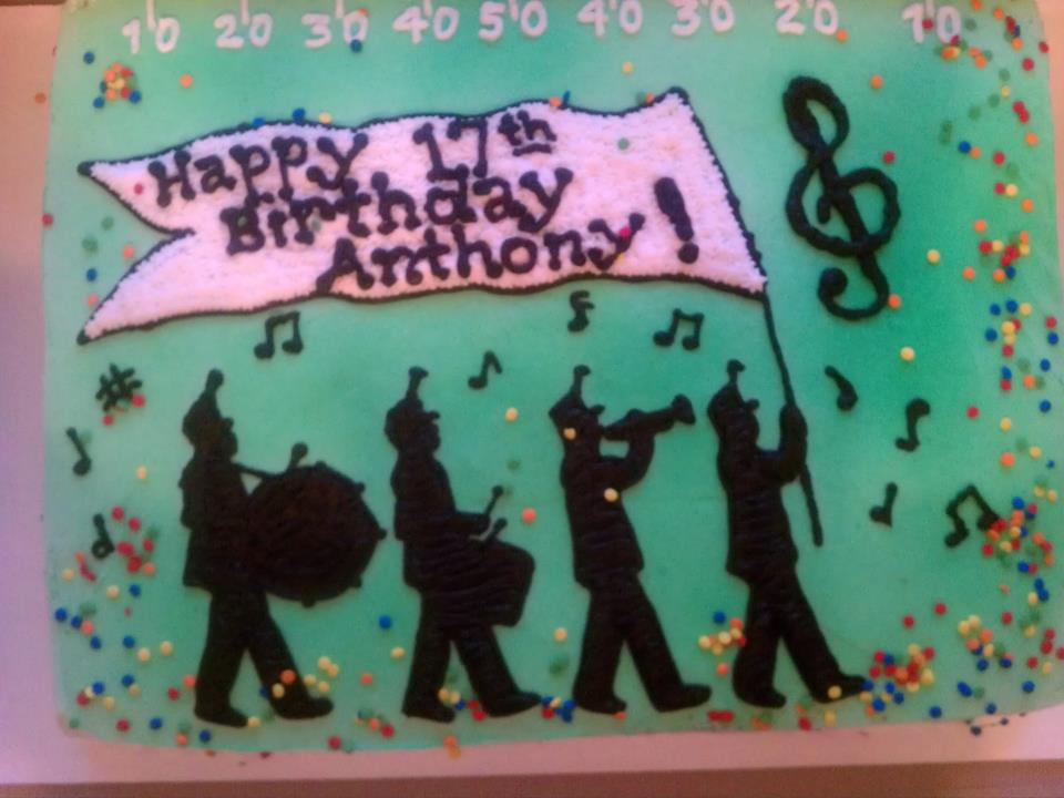 Introducing Marching Band Cake For A Birthday Celebration