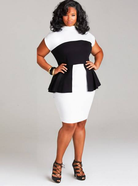 red black and white plus size dresses - long dresses online