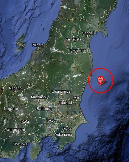 EAST COAST OF HONSHU, JAPAN earthquake 2012 November 09