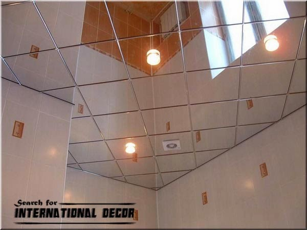 False mirror ceiling for bathroom