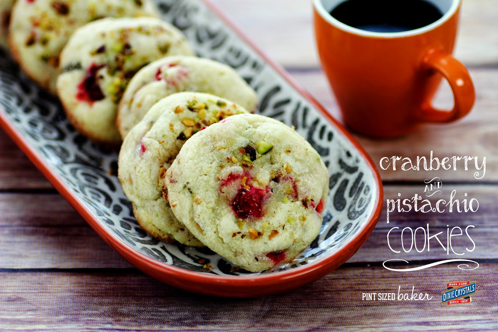 Cranberry and Pistachio Holiday Sugar Cookies - Perfect for my midday coffee break.