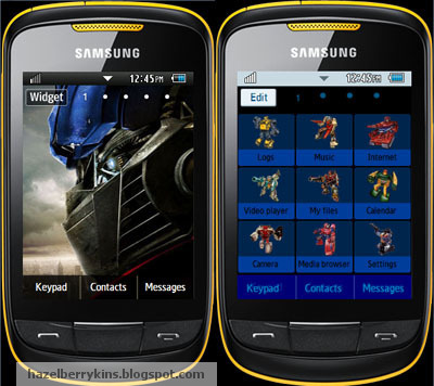 Samsung Corby 2 Theme: Transformers | Corby 2 Downloads