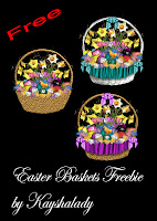 Easter baskets freebie PNG Tubes