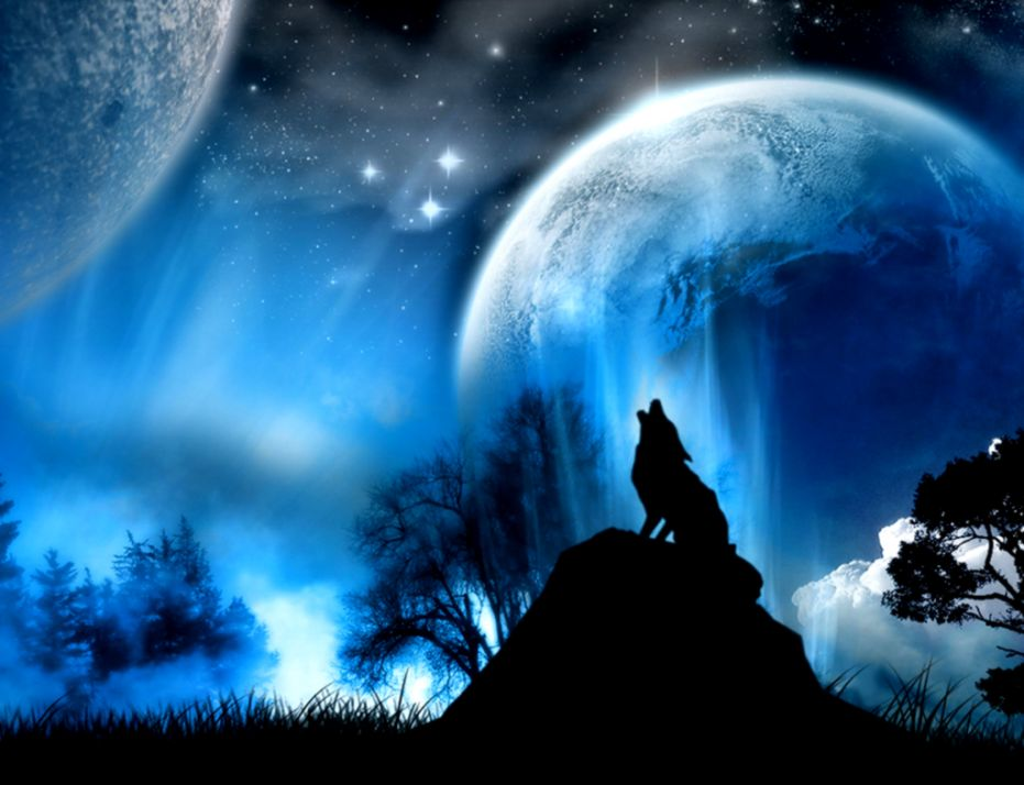 Beautiful Dreamy Fantasy Outer Moon Artwork Wallpaper